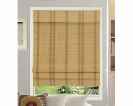 Cordless Bamboo Roman Shades RB259N-WH