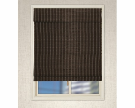 Cordless Bamboo Roman Shades RB255D-WH