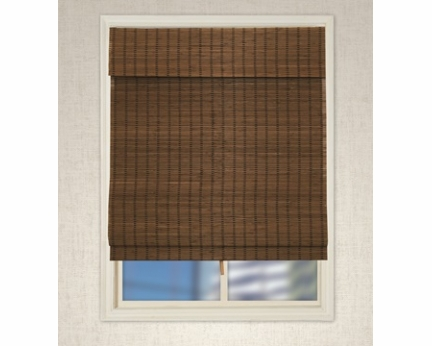 Cordless Bamboo Roman Shades RB254D-WH